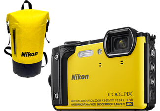 NIKON Digitalkamera COOLPIX W300 Outdoor Kit, gelb