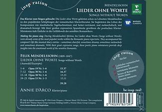 Annie D' Arco - Lieder ohne Worte  - (CD)
