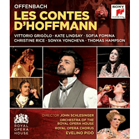 Vittorio Grigolo, Kate Lindsey, Sofia Fomina, Thomas Hampson, Royal Opera Chorus, Evelino Pido, Christine Rice, Sonya Yoncheva, Orchestra Of The Royal Opera House - Les Contes d'Hoffmann/Hoffmanns Erzählungen [Blu-ray]