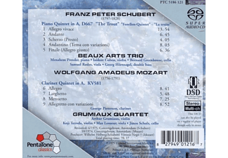 PIETERSEN/BEAUX ARTS TRIO/GRUMIAUX, Beaux Art Trio/Pieterson Quartet - Forellenquintett/Klarinettenquintett  - (SACD Hybrid)