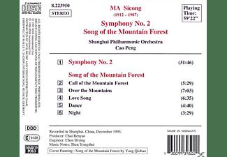 Shanghai Philharmonic Orchestra - Sinfonie 2/Lied Vom Bergwald  - (CD)
