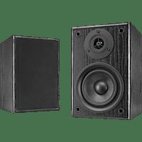 DUAL LS 100 1 Paar Lautsprecher (2 Wege, Schwarz)