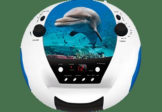 BIGBEN CD52USB/MP3 Dolphin Radiorecorder, mehrfarbig