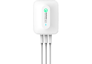 REALPOWER 3-Port wall charger QC 3.0 3-Port USB-Ladestation mit einem QC 3.0 Port