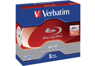 VERBATIM BD-RE 2X 25 GB 5-pack