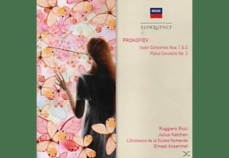 Ruggiero Ricci, Julius Katchen, L'orchestre De La Suisse Romande - Violinkonzerte 1 & 2/Klavierkonzert 3  - (CD)