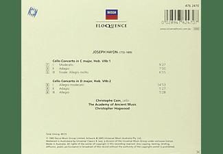 Christophe Coin, Christopher Hogwood, Academy Of Ancient Music - Cello Concertos Nos. 1 & 2  - (CD)