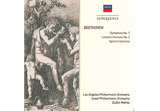 Los Angeles Philharmonic Orchestra, Israel Philharmonic Orchestra, Zubin Mehta - Leonore Overture/ Egmont Overture/ Sinfonie 7  - (CD)