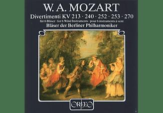 Bläser Der Berliner Philharmoniker - Divertimenti für 6 Bläser KV 213/240/252/253/270  - (CD)