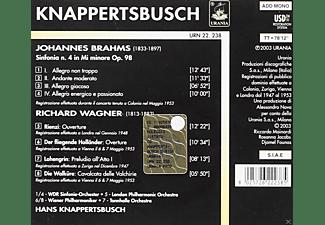 Wiener Philharmoniker, Tonhalle Orchester Zürich, The London Philharmonic Orchestra, Wdr Sinfonieorchester Köln - Knappertsbusch dirigiert Brahms und Wagner  - (CD)