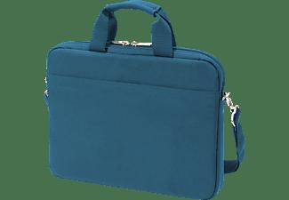 DICOTA Slim Case BASE Notebooktasche Umhängetasche für Universal Polyester, Blau