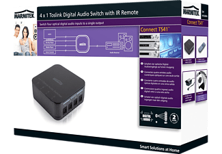 MARMITEK Connect TS41 Optischer Digital Audioschalter (Toslink), Schwarz