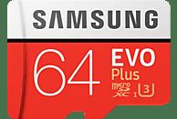 SAMSUNG Evo Plus, Micro-SDXC Speicherkarte, 64 GB, 100 MB/s