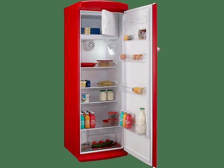 TELEFUNKEN TFK 043 FR2  Kühlschrank (A++, 197 kWh/Jahr, 1769 mm hoch, Rot)