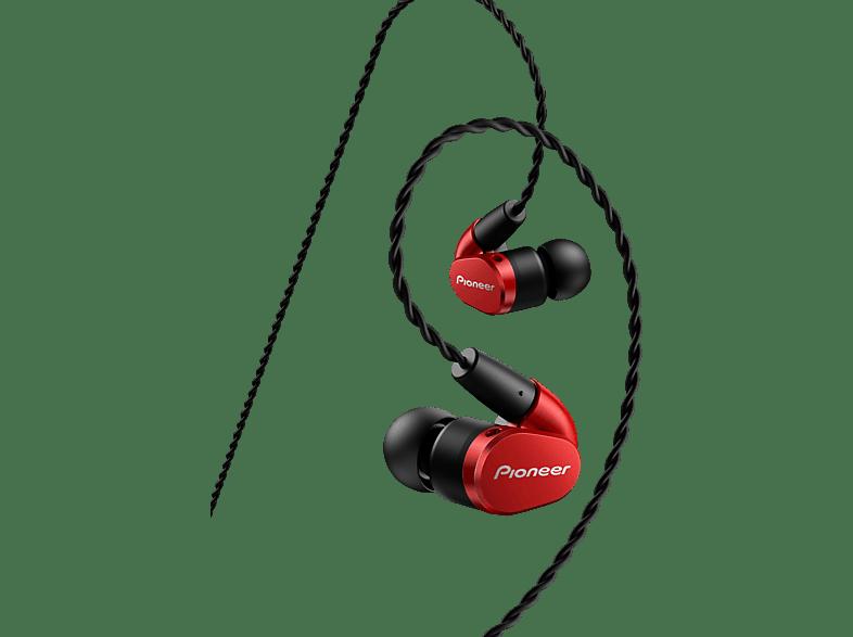 PIONEER SE-CH5T-R, In-ear Kopfhörer  Rot