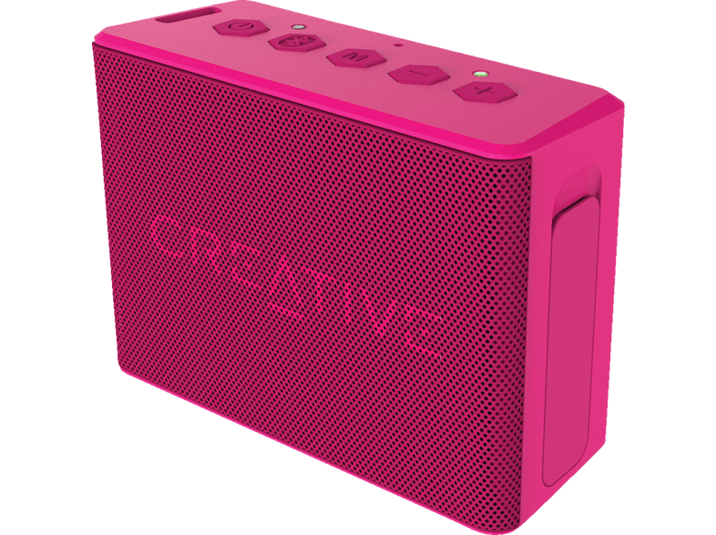 CREATIVE MUVO 2C Bluetooth Lautsprecher, Pink, Wasserfest