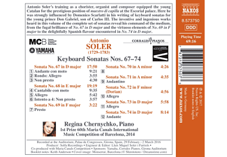Regina Chernychko - Klaviersonaten 67-74  - (CD)