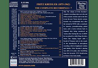 Fritz Kreisler - Complete Recordings 7  - (CD)