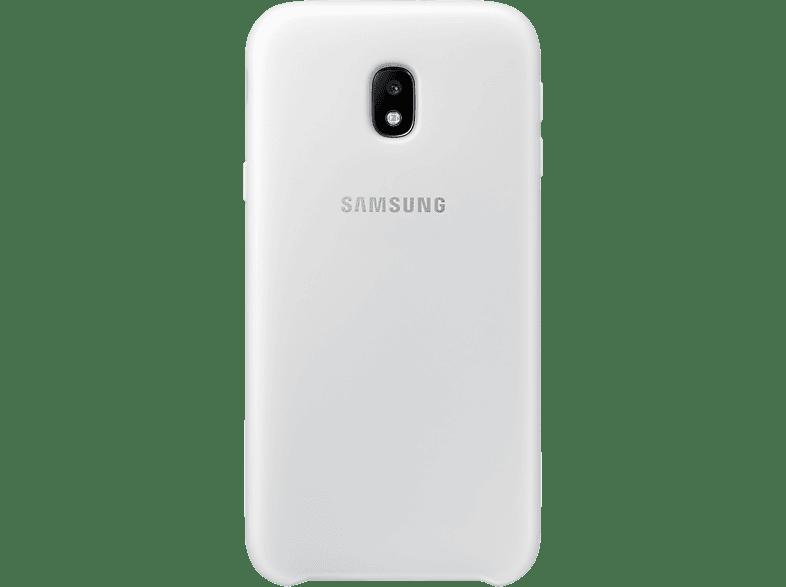 SAMSUNG Dual Layer Cover EF-PJ330 , Backcover, Samsung, Galaxy J3 (2017), Weiß