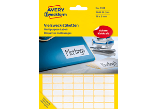 AVERY ZWECKFORM 3311 Mini-Organisations-Etiketten 16 x 9 mm 16 x 9 mm  2.646 Etiketten / 27 Bogen