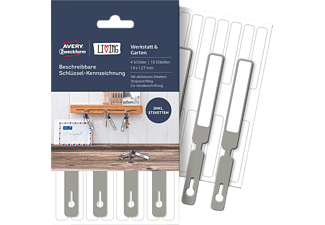 AVERY ZWECKFORM LIVING Beschreibbare Schlüssel-Kennzeichnung 14 x 127 mm 14 x 127 mm  16 Etiketten / 4 Stück