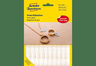 AVERY ZWECKFORM 3335 Preis-Etiketten 49 x 10 mm 49 x 10 mm  930 Etiketten / 31 Bogen