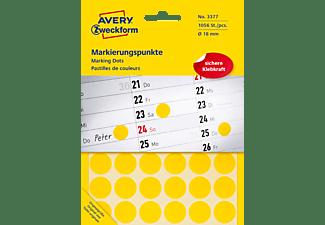 AVERY ZWECKFORM 3377 Markierungspunkte Ø 18 mm Ø 18 mm  1.056 Etiketten / 22 Bogen