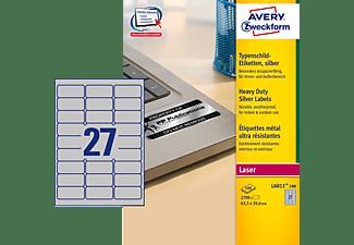 AVERY ZWECKFORM L6011-100 Typenschild Etiketten 63,5 x 29,6 mm 63,5 x 29,6 mm A4  2.700 Etiketten / 100 Bogen