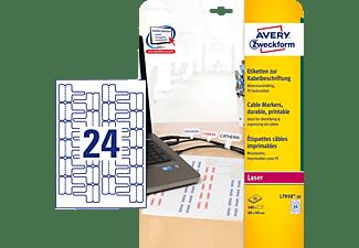 AVERY ZWECKFORM L7950-20 Etiketten zur Kabelbeschriftung 60 x 40 mm 60 x 40 mm A4  480 Etiketten / 20 Bogen