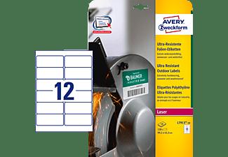 AVERY ZWECKFORM L7913-10 Ultra-Resistente Folienetiketten 99,1 x 42,3 mm 99,1 x 42,3 mm A4  120 Etiketten / 10 Bogen