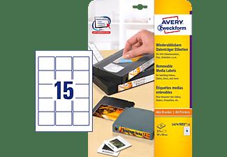 AVERY ZWECKFORM L4747REV-25 Etiketten für ZIP-Disketten 59 x 50 mm 59 x 50 mm A4  375 Etiketten / 25 Bogen
