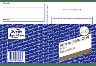 AVERY ZWECKFORM 2826 Adressaufkleberheft 148 x 105 mm 148 x 105 mm A6  10 Blatt