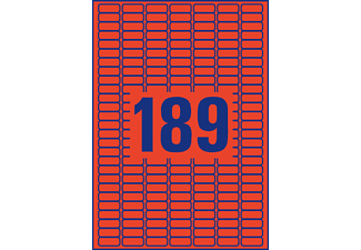 AVERY ZWECKFORM L6036-20 Farbige Etiketten 25,4 x 10 mm 25,4 x 10 mm A4  3.780 Etiketten / 20 Bogen