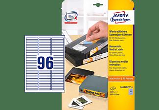 AVERY ZWECKFORM L6022REV-25 Etiketten für Data Cartridge 63,5 x 8,5 mm 63,5 x 8,5 mm A4  2.400 Etiketten / 25 Bogen