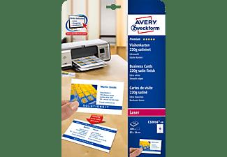 AVERY ZWECKFORM C32016-10 Visitenkarten 85 x 54 mm 85 x 54 mm A4  100 Karten / 10 Bogen