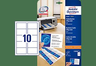 AVERY ZWECKFORM C32010-25 Visitenkarten 85 x 54 mm 85 x 54 mm A4  250 Karten / 25 Bogen