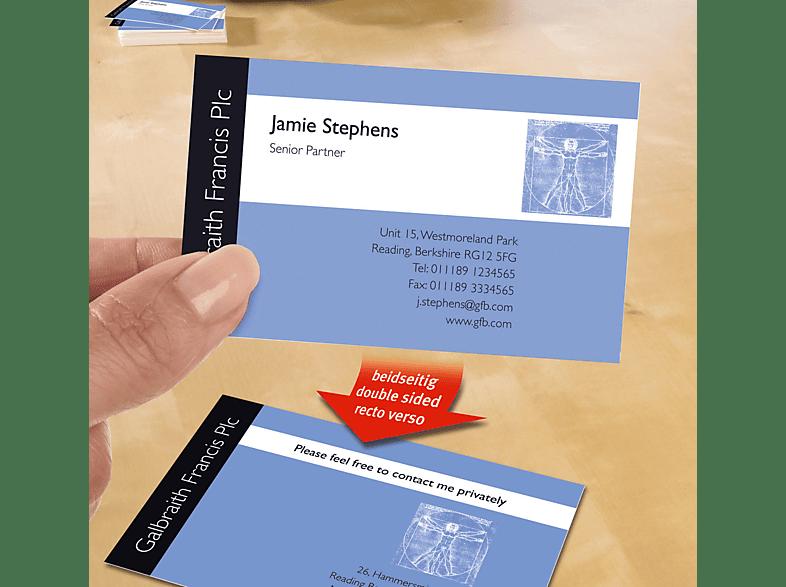 Avery Zweckform C32015 25 Visitenkarten 85 X 54 Mm 85 X 54 Mm A4 200 Karten 25 Bogen
