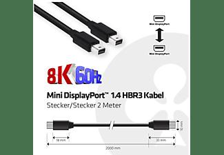 CLUB-3D Mini DisplayPort 1.4 HBR 3 8K60Hz Kabel 2 Meter (CAC-1164)
