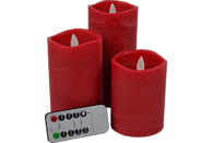 FHS 27070 Star-Max LED Kerzen, Rot, Warmweiß