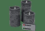 FHS 27018 Star-Max LED Kerzen, Anthrazit, Warmweiß