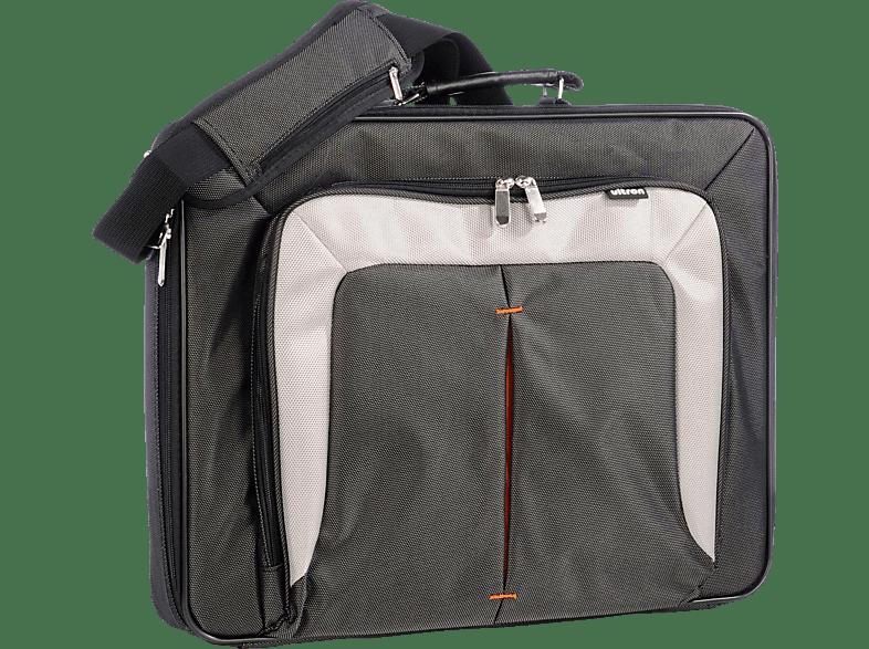 ULTRON UT-15 Notebooktasche, Umhängetasche, 15.6 Zoll, Schwarz/Grau