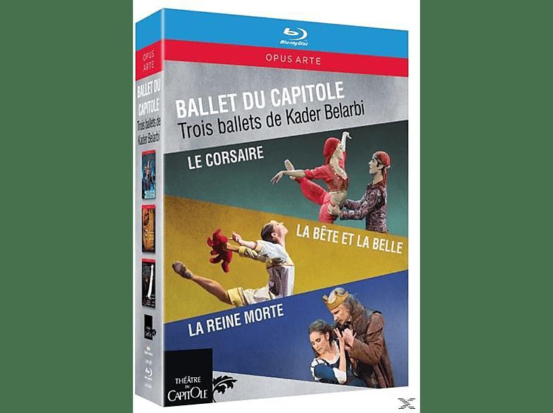 Ballet du Capitole - Le Corsaire/La Bete et la Belle/La Reine morte [Blu-ray]