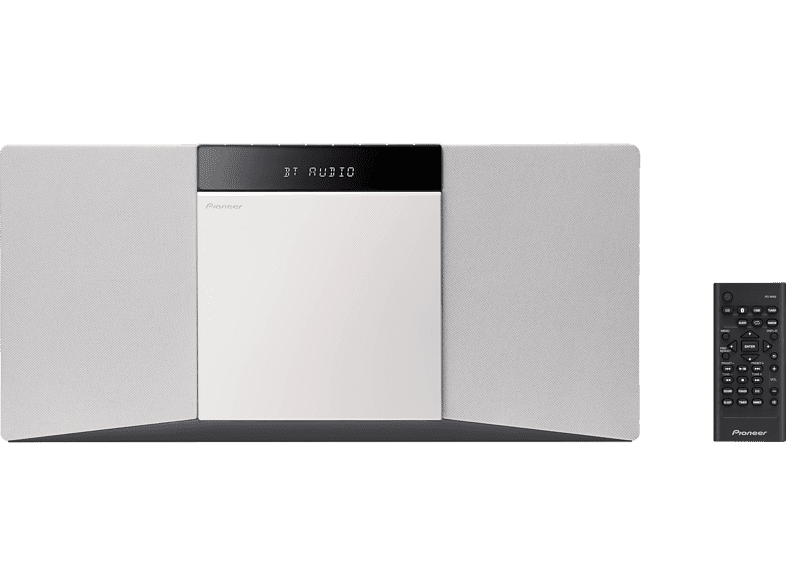 PIONEER X-SMC02 D Kompaktanlage (CD-R, CD-RW, MP3, Weiß)