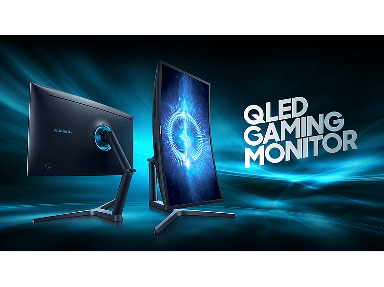 "SAMSUNG C32HG70 31,5"" ívelt gamer monitor 144Hz 1ms 2x HDMI, DisplayPort Quantum Dot technológiával"