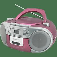 SOUNDMASTER SCD5410 mit Kassettendeck Radiorecorder (Pink)