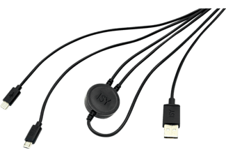 Cable de carga- Isy IC-601, USB a MicroUSB, Para PS4, Doble