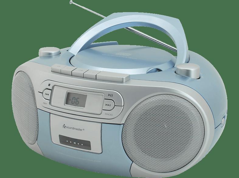 SOUNDMASTER SCD5410BL mit Kassettendeck Radiorecorder (Blau)