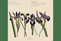 Stevie Wishart, Jim Denley, Pedro Estevan, Sinfonye - Istampite-Medieval pieces for fiddle & percuss. [CD]