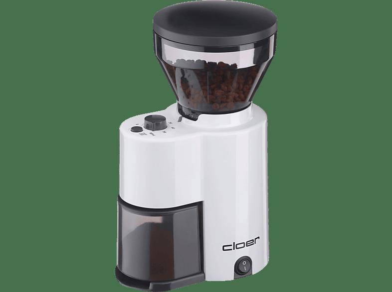 CLOER 7521 Kaffeemühle Weiß (150 Watt, Kegelmahlwerk)