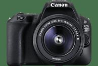 CANON EOS 200D Kit Spiegelreflexkamera, 24.2 Megapixel, Full HD, 18-55 mm Objektiv (DC, EF-S), Touchscreen Display, WLAN, Schwarz